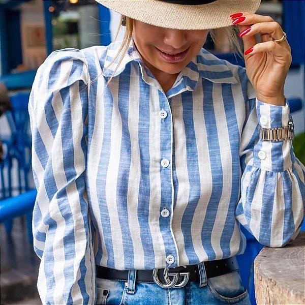 Camisa Tricoline listras