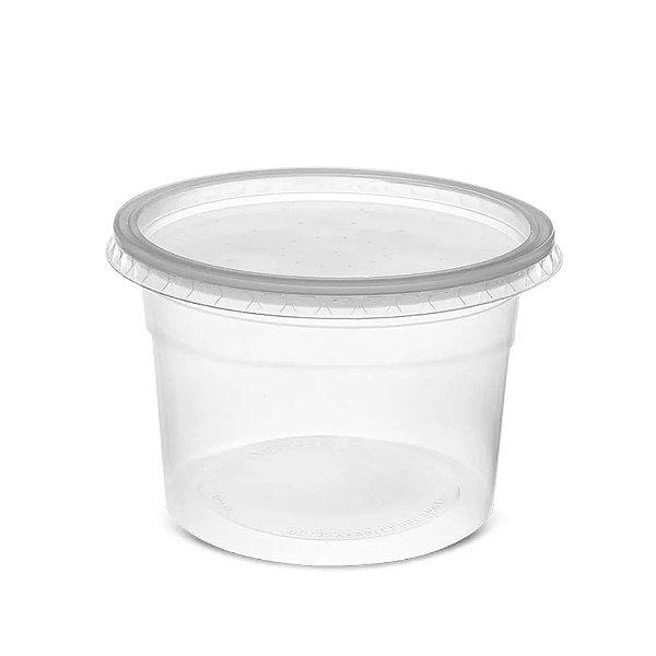 Pote de Plástico C/ Tampa Descartável 1000ml 25un Rioplastic