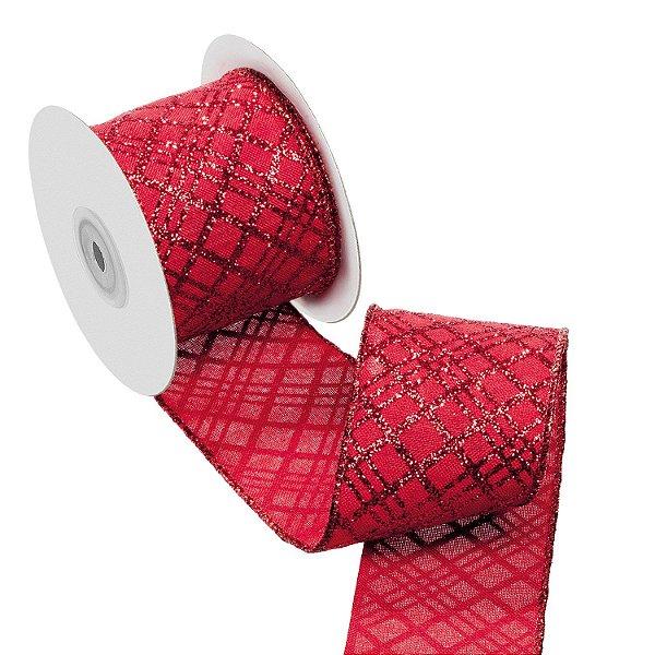 Fita vermelha com diagonais vermelhas A108909