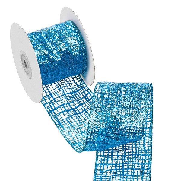 Fita azul Tifany organza A108916