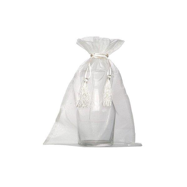 Saquinho de organza Branco com pingente 35 x 28cm B154935