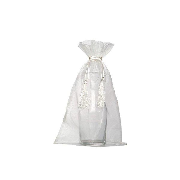 Saquinho de organza Branco com pingente 35 x 21cm B155386