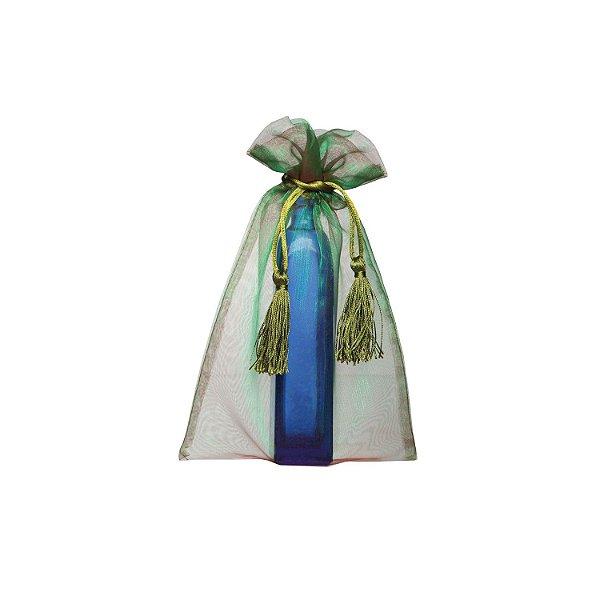 Saquinho de organza Verde com pingente 24x15cm B15C138