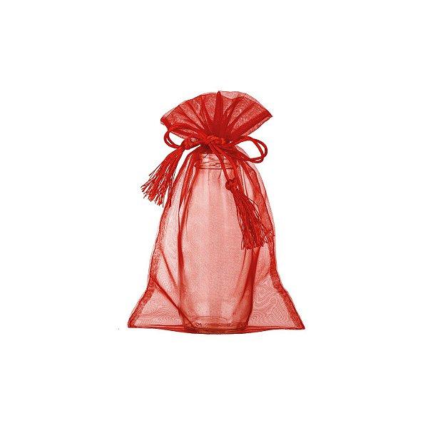 Saquinho de organza Vermelho com pingente 24x15cm B158061
