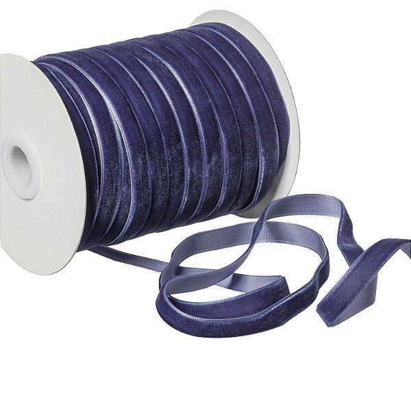 Fita Veludo Azul Noite 0,95cm x 50m A208587