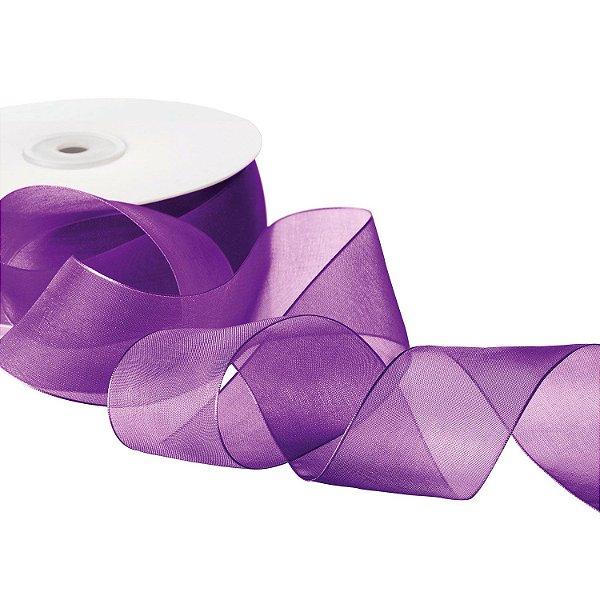 Fita Organza Violeta 3,81cm x 50m A20C758