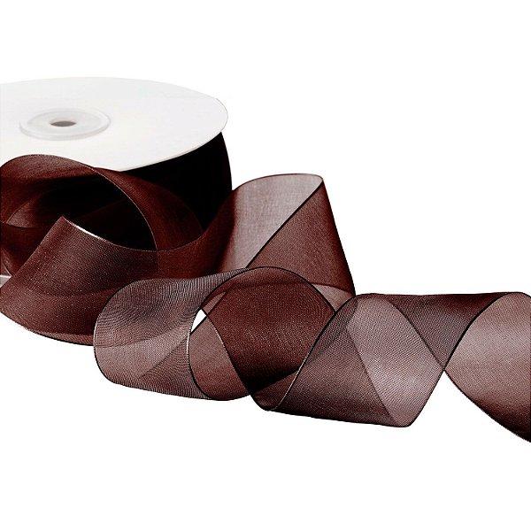 Fita Organza Chocolate 3,81cm x50m A20C762