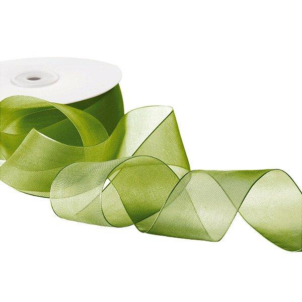 Fita Organza Verde Musgo 3,81cm x50m A20C775