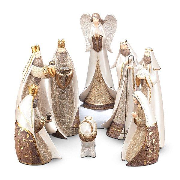 Presepio Ouro em Poliresina 8 peças F408484