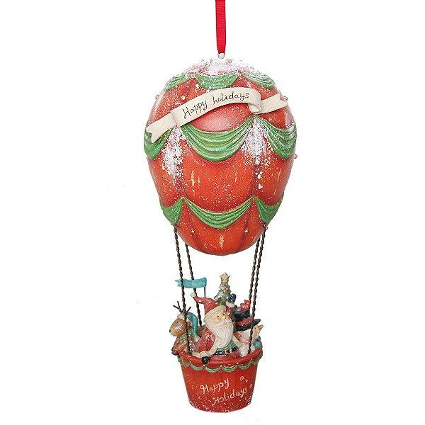 Balão de Ar Happy Holidays Familia Noel em Resina F409239