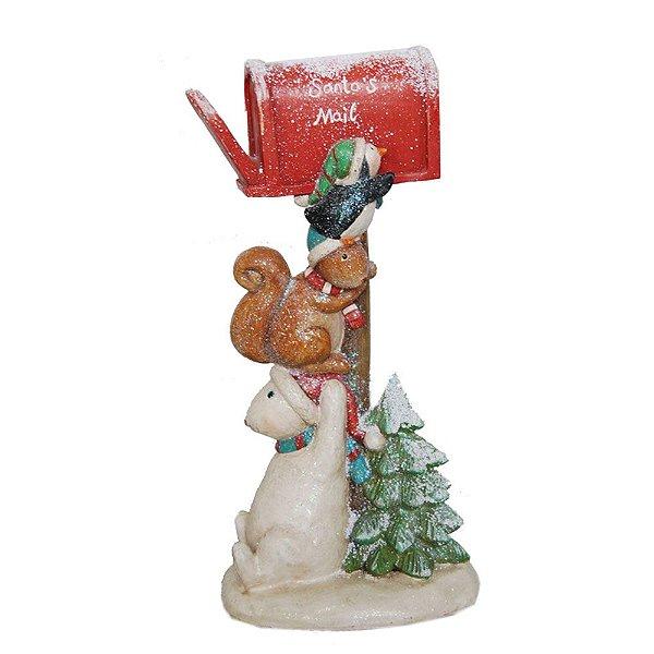 Caixa Correio natalina em resina F409237