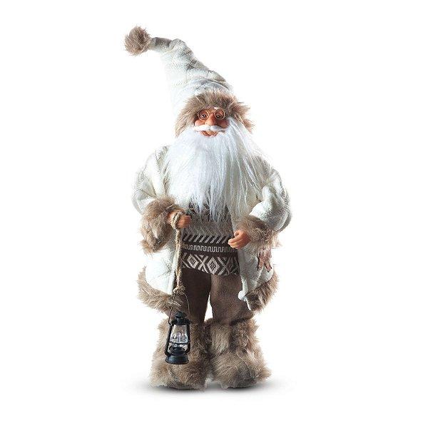 Papai Noel c/ pergaminho e lanterna nevado G308466