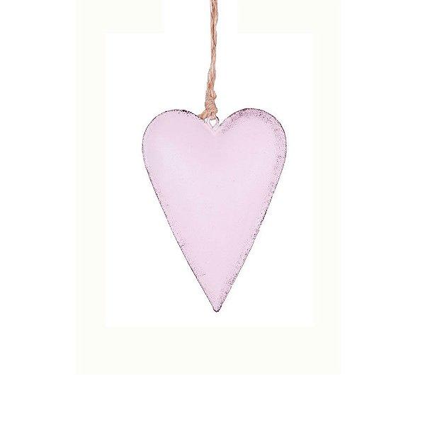 Coração p/ pendurar rosa P em metal F359118