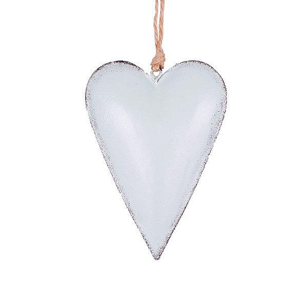 Coração p/ pendurar verde M em metal F359121