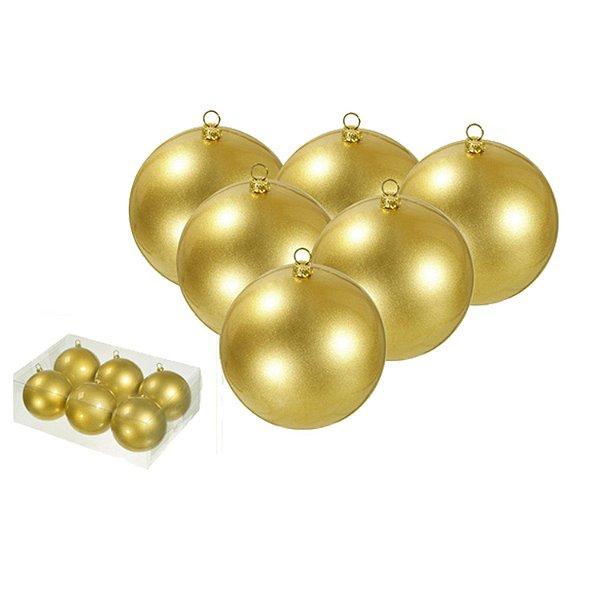 Caixa com 6 bolas ouro 10cm G107043