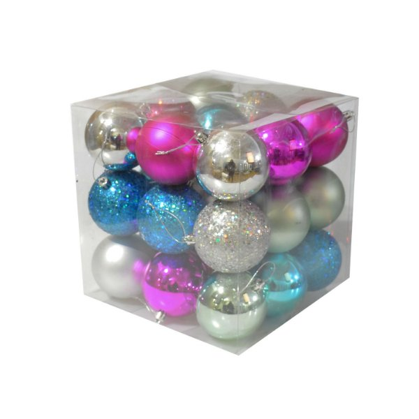 Caixa com 27 bolas tons candy colors sortida 8cm G109285