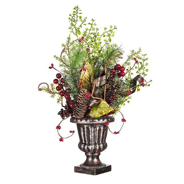 Vaso c/ Folhas e Berries G208202
