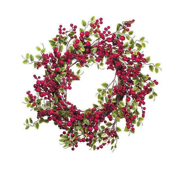 Guirlanda Redonda c/Berries e Folhagens G208831