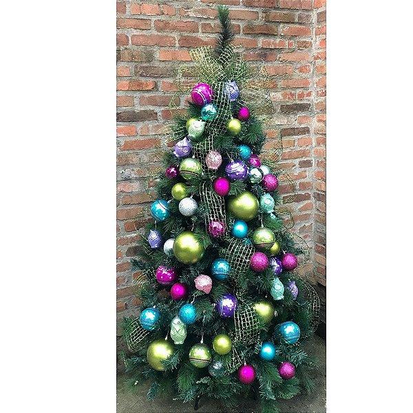 Kit árvore decorada Colorida Vintage
