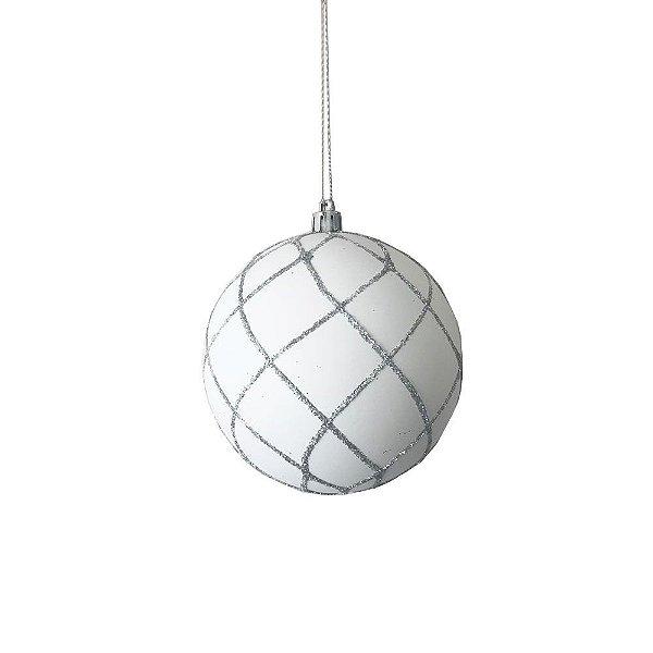 Bola branca com detalhes gliterados G109486