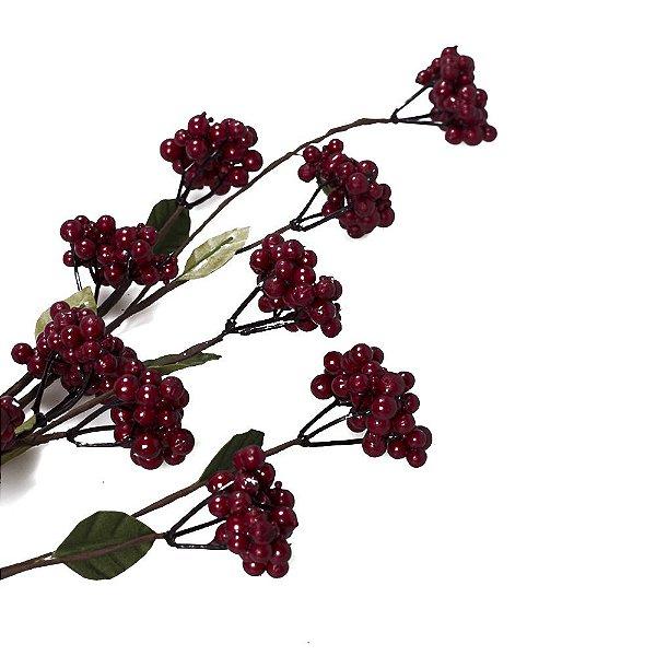 Galho flexivel berries e folhas G200622