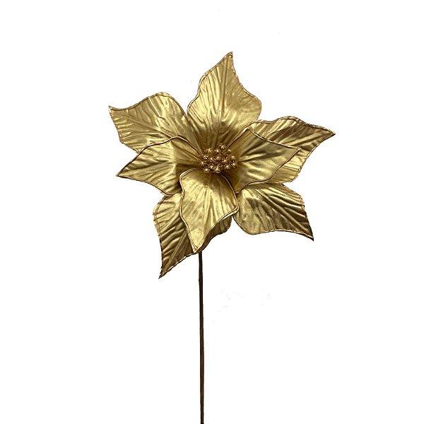 Poinsetia ouro metalizada G200748
