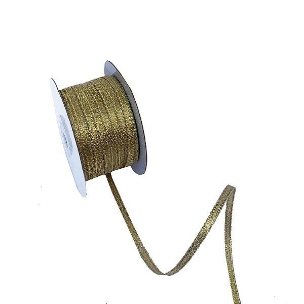 Fita metálica dourada 3mm A100677