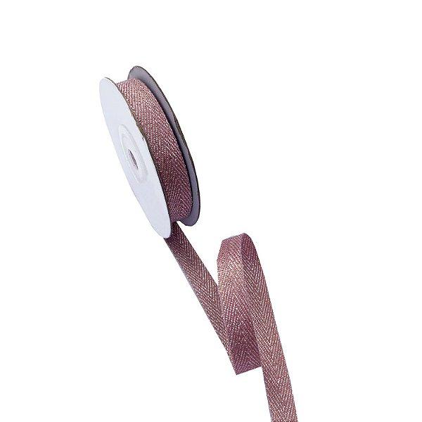 Fita metálica rosê 9mm A100691