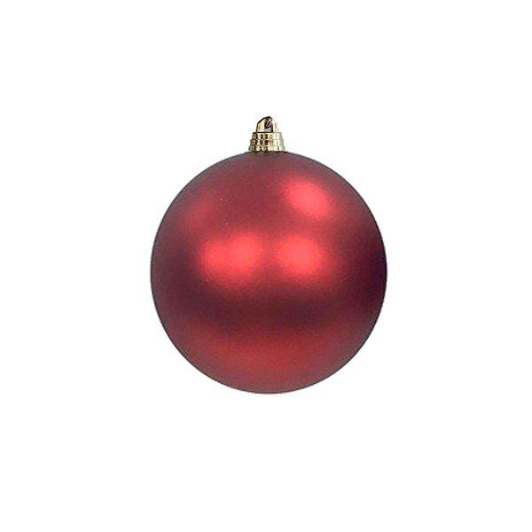 Bola vermelha fosca 10cm - G150950