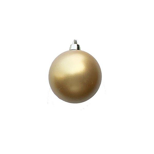 Bola Ouro Fosco 8cm 4un - G150967