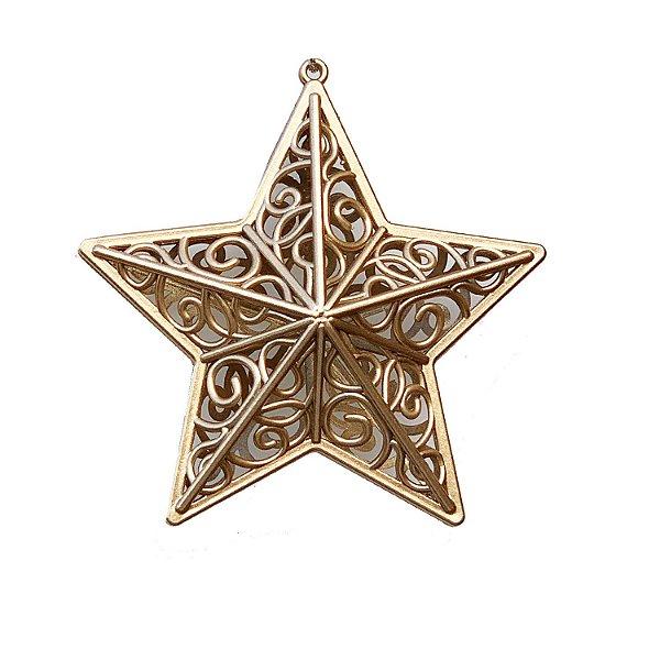 Estrela Outo Velho Arabesco 10x10cm - G150985