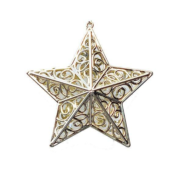 Estrela Ouro Brilho Arabesco 10x10cm - G150989