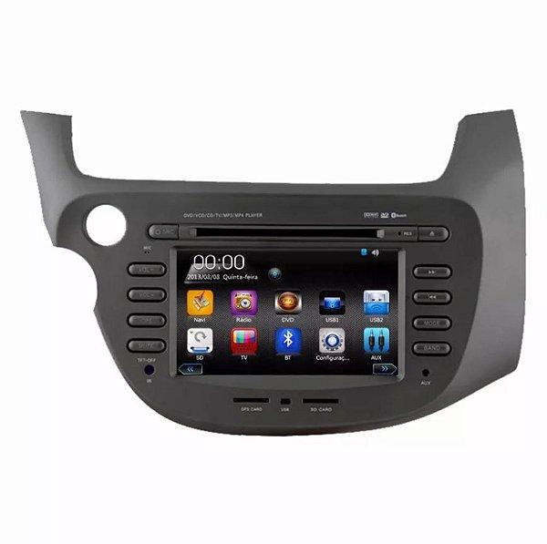 Central Multimídia Fit Honda New Fit Dvd Tv Digital Gps