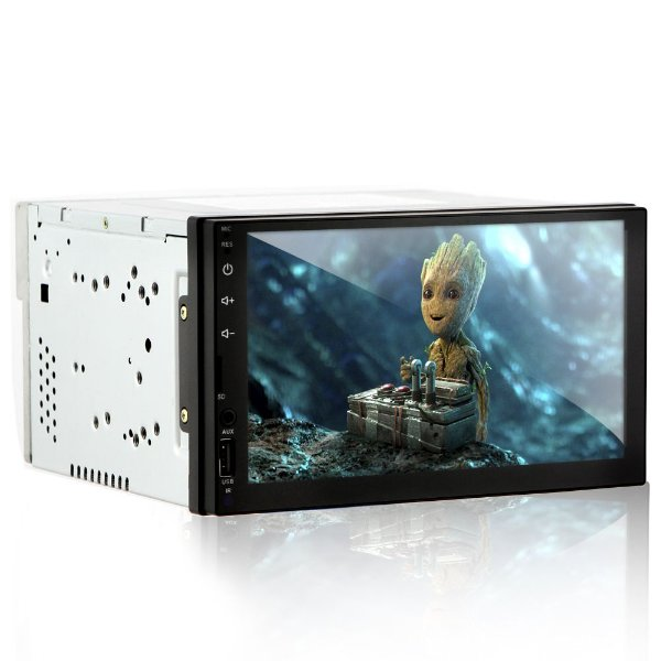 "Mp5 Automotivo Full Touch 6.95"" com Espelhamento Android Com Receptor de TV DIGITAL"