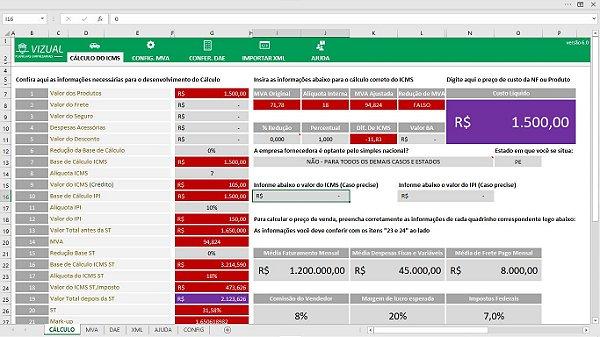 Pacote de Planilhas para Autopeças em Excel 6.0