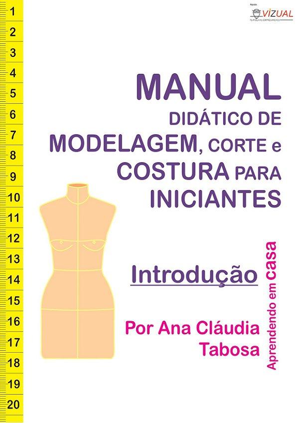 Pacote Curso Didático de Modelagem, Corte e Costura em Tecido Plano em PDF