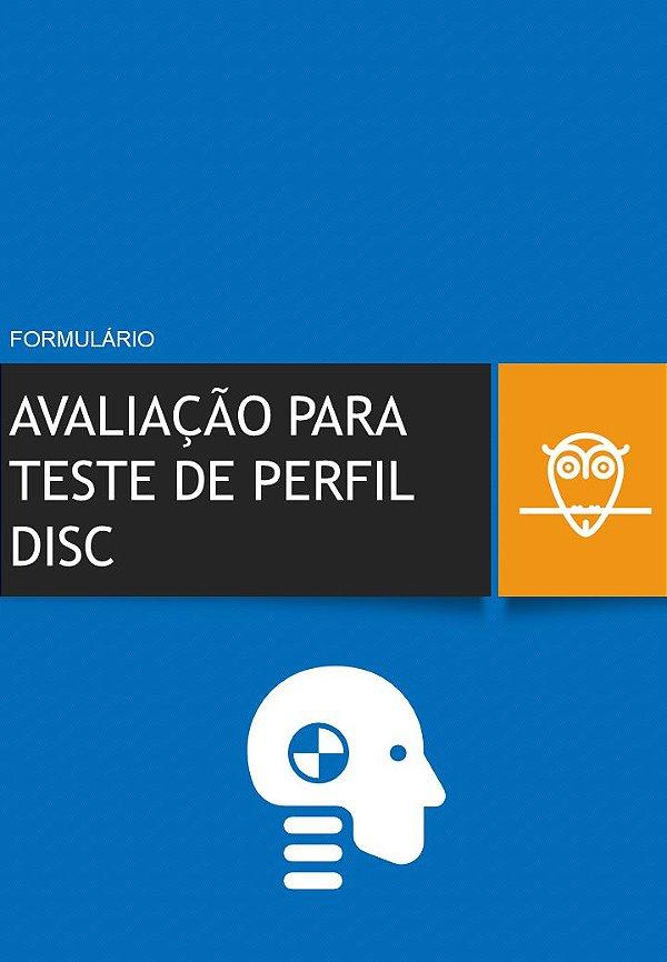 Formulário de Avaliação para Teste de Perfil DISC em PDF
