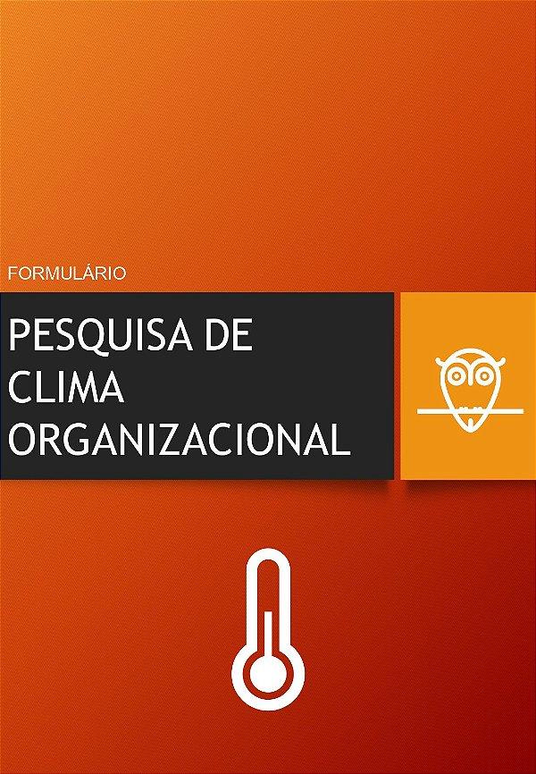 Formulário de Pesquisa do Clima Organizacional em PDF