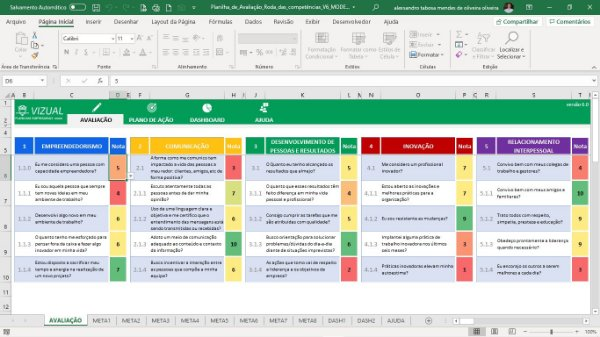 Pacote de Planilhas de Recursos Humanos em Excel 6.0
