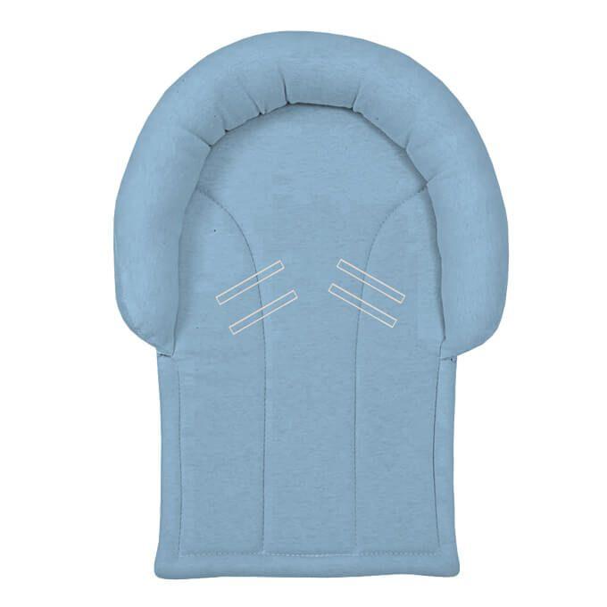 Protetor de Cabeça Azul Claro para Bebê Conforto