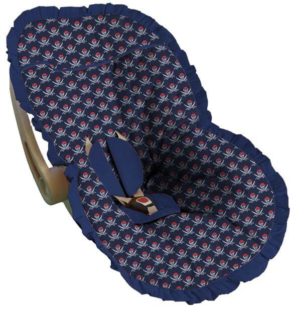 Capa para Bebê Conforto Rock Marinho