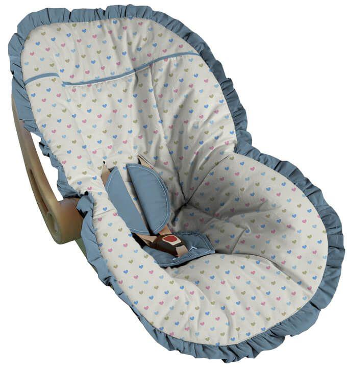 Capa para Bebê Conforto Coração Bali