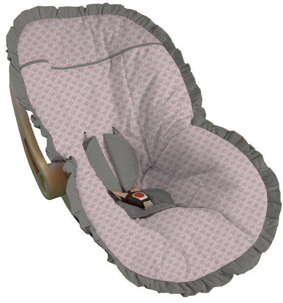 Capa para Bebê Conforto Coração Corunha