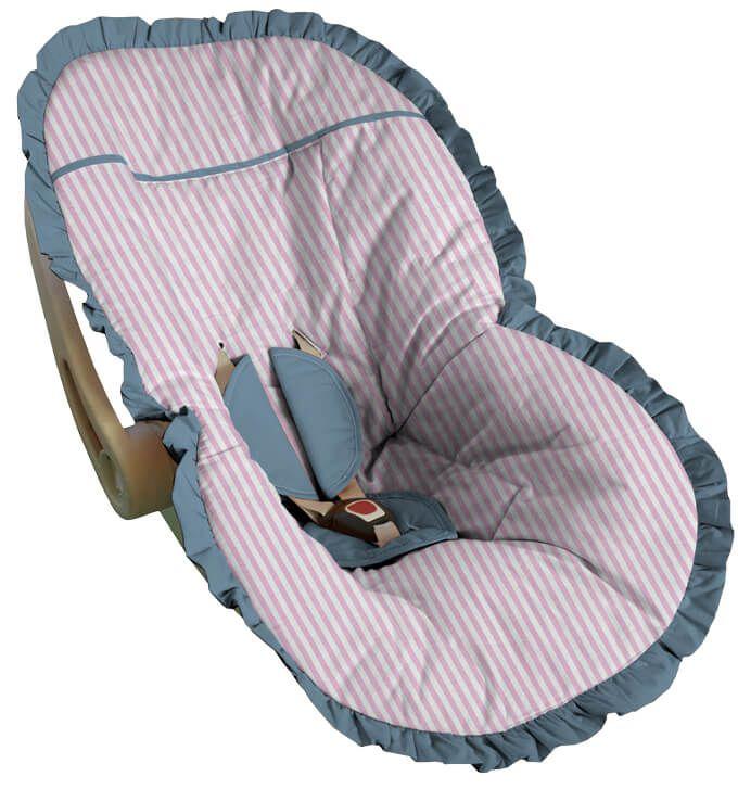 Capa para Bebê Conforto Listrada Rosa