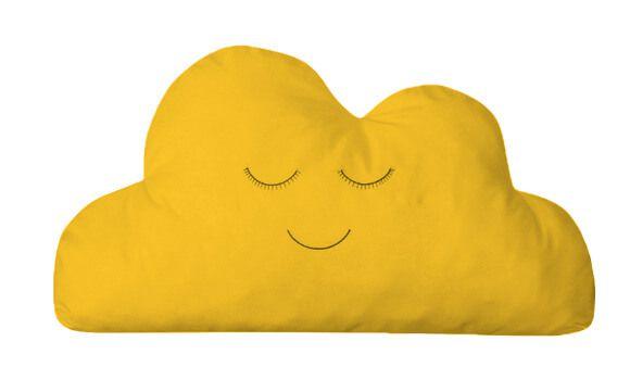 Almofada Nuvem Amarelo Ouro
