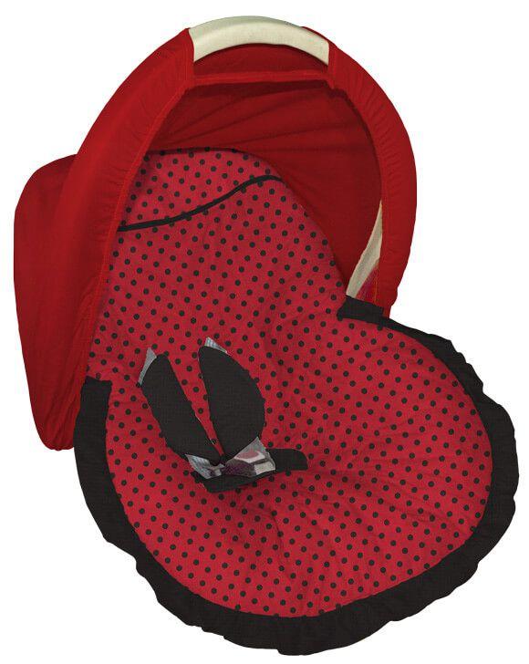 Capa para bebê Conforto com Capota Joaninha