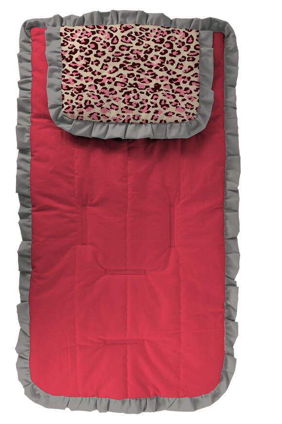 Capa para Carrinho Pink com Travesseiro Oncinha