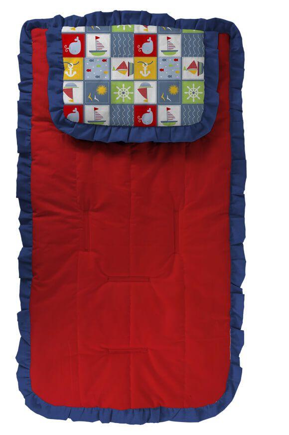 Capa para Carrinho com Travesseiro Vermelho Navy