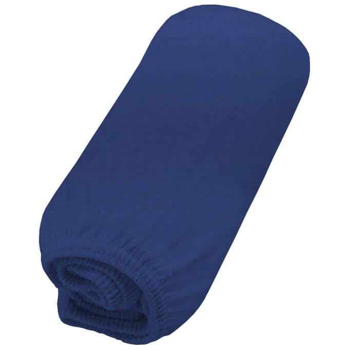 Lençol para Berço com Elástico Azul Marinho