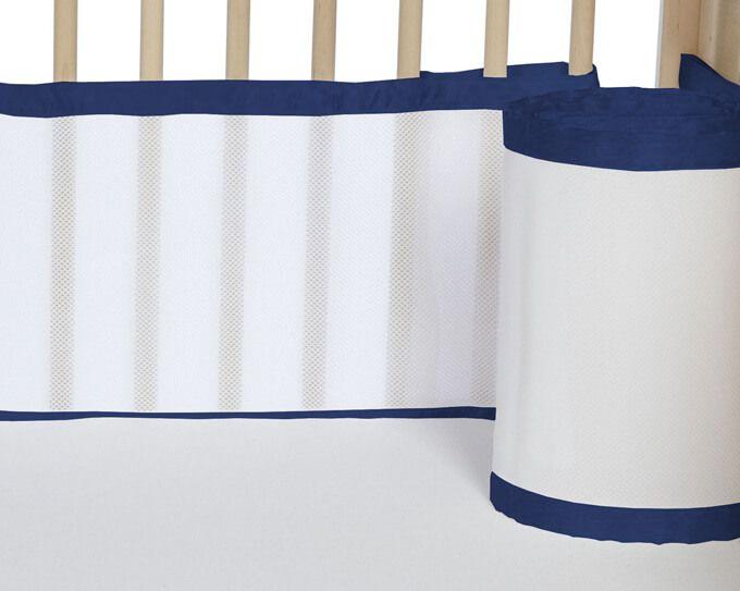 Tela para Berço de Bebê Respirável Azul Marinho